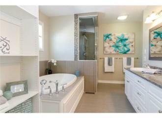 totaly renovated bath, new flooring, new granite, new paint