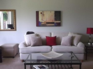 living room after staging