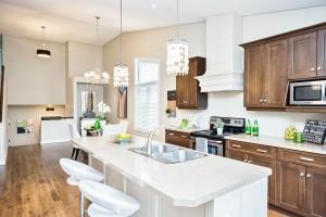 custom built home staging